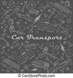 kunst, auto, abbildung, vektor, design, linie, transport