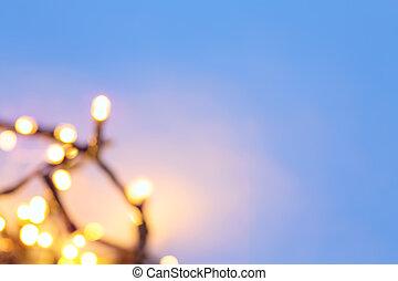 kunst, besneeuwd, kerstmis, achtergrond
