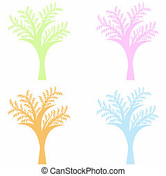 kunst, bomen