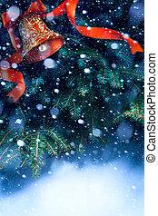 kunst, boompje, kerstmis, achtergrond