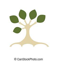 kunst, boompje, voor, jouw, ontwerp