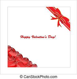 kunst, dag, kaart, valentine