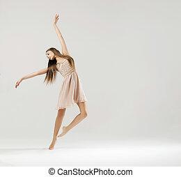 kunst, dans, verricht, door, de, ballet danser