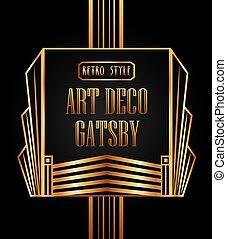 Deco kunst gatsby hintergrund clipart vektor suchen for Element deco design