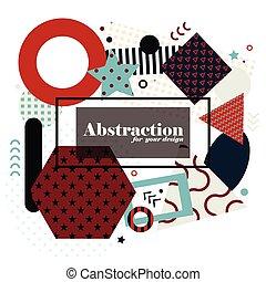 kunst, elements., abstract, moderne, geometrisch, achtergrond