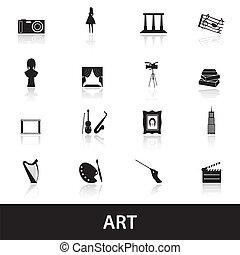 kunst, eps10, iconen
