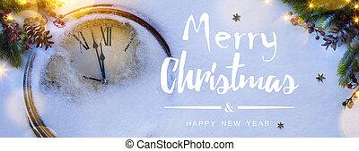kunst, eva, jaren, achtergrond, nieuw, kerstmis, vrolijke