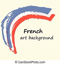 kunst, franse , creatief, vlag, colors., achtergrond, frankrijk