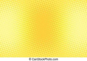 kunst, gelber , knall, halftone, retro, hintergrund, orange