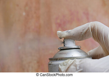 kunst, hand, verpulveren