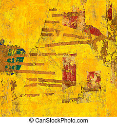 kunst, het abstracte schilderen, digitale