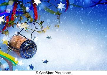 kunst, jaar, achtergrond, nieuw, feestje, kerstmis