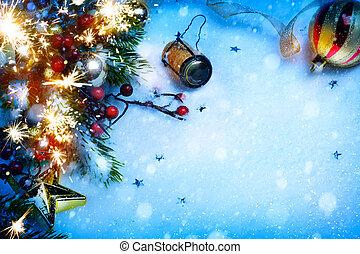 kunst, jaar, achtergronden, nieuw, feestje, kerstmis