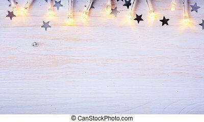 kunst, kerstboom, light;, kerstmis, achtergrond