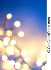 kunst, kerstmis, achtergrond, besneeuwd