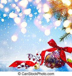 kunst, kerstmis, begroetende kaart, achtergrond, of, seizoen, feestdagen, spandoek