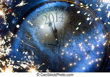 kunst, kerstmis, en, oudjaarsdag, 2014