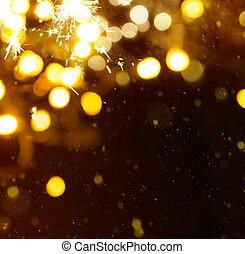kunst, kerstmis, feestdagen, licht, achtergrond