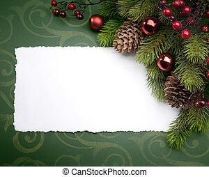 kunst, kerstmis kaart, groet