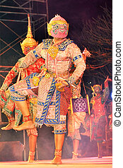 """kunst, """"khon"""", tanzen, tanz, gerufen, historisch, high-class"""