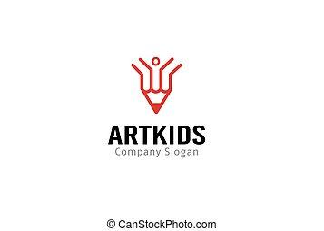kunst, kinder, logo