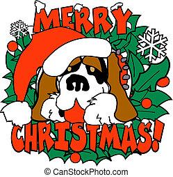 kunst, klammer, str., hund, bernard, weihnachten