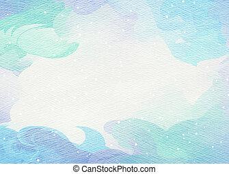 kunst, kleurrijke, abstract, watercolor, achtergrond., ...