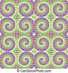 kunst, kleurrijke, pattern., abstract, strengeling, lijnen, seamless, spiraal, achtergrond., vector, ontwerp, textured, beweging