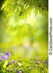 kunst, lente, landscape, achtergrond
