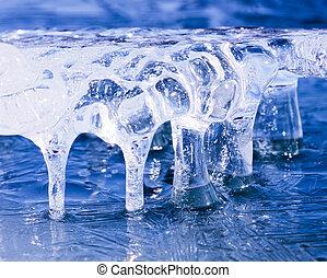kunst, natur, gefrorenes, abstrakt, eis, natürlich, skulptur