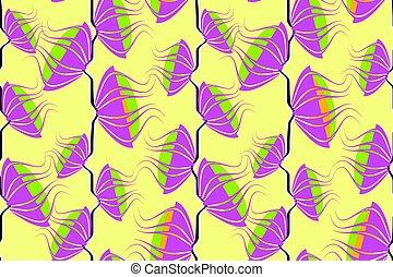 kunst, neon, pattern., seamless, vector, floral