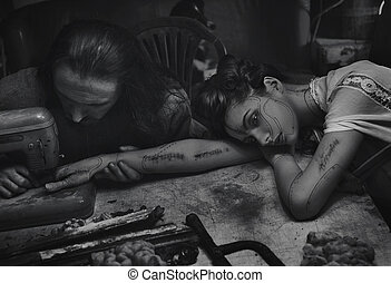 kunst, schoenheit, reihe, tier, foto, geldstrafe