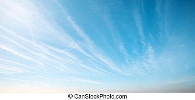 kunst, skyer, solopgang, baggrund, himmel