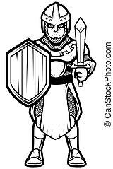 kunst, soldaat, middeleeuws, lijn