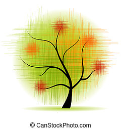 kunst, træ, smukke
