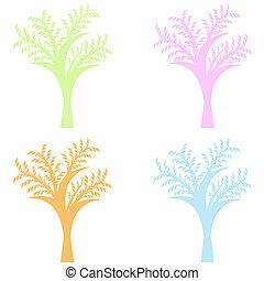 kunst, træer