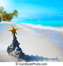 kunst, tropische , weihnachtsurlaub