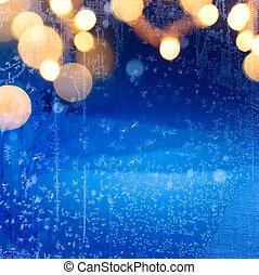 kunst, winter, besneeuwd, achtergrond;, kerstmis, landscape