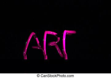 kunst, wort, 3d