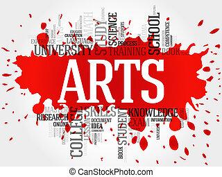 kunsten, woord, wolk