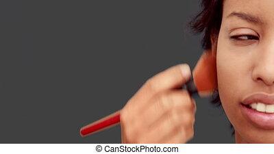 kunstenaar, maken, het putten, poeder, op