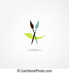 kunstenaar, pictogram