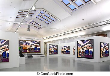 kunstgalerie, 2., alles, afbeeldingen, zelfs, filtred,...