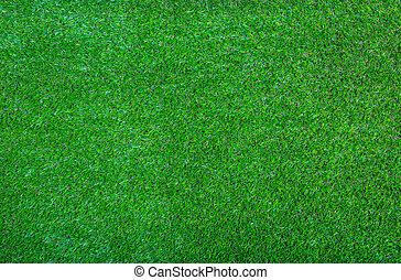 kunstige, grønnes græs, baggrund, tekstur