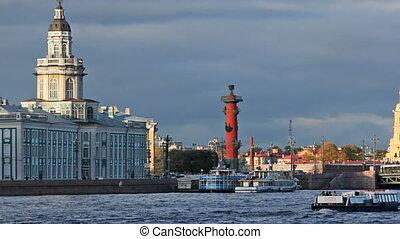 Kunstkamera and Palace Bridge, Saint Petersburg, Russia