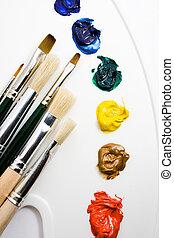 kunstnere, redskaberne