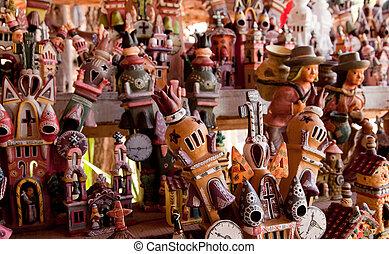 kunstwerk, in, peru, in, ayacucho, in, de andes
