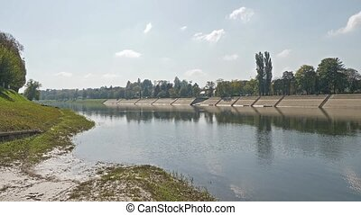 Kupa river landscape - Reflection on the surface of the Kupa...
