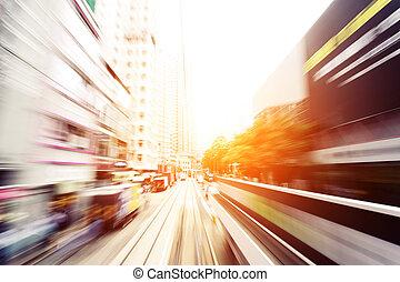 kupczenie lekkie, ślady, od, nowoczesna sprawa, miasto