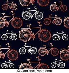 kupfer, fahrrad, seamless, hintergrundmuster